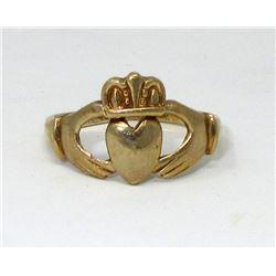 10KT Gold 2.30 Gram Claddagh Ring