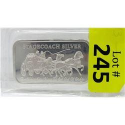 1OzStagecoach.999 Silver Art Bar
