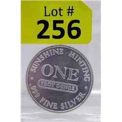 Rare 1 Oz Sunshine Minting .999 Silver Round