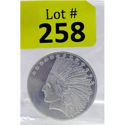 1 Oz First Nations/Eagle motif .999 Silver Round