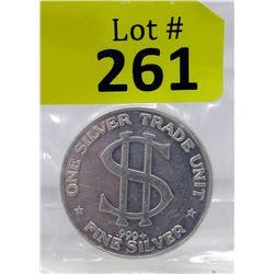 1 Oz. Silver Trade Unit .999 Silver ArtRound