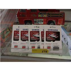 5 New Samsung micro SDXC UHS-1 Cards