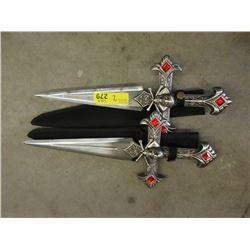 2 New Skull & Crossbones Stainless Steel Knives