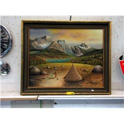 """Signed G. Noren Oil Painting - 36"""" long x 29"""""""
