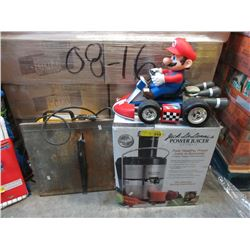 Tile Saw, Mario Toy and Jack LaLanne Power Juicer