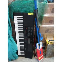 Casio Keyboard, 2 Mops and Car Wash Wand