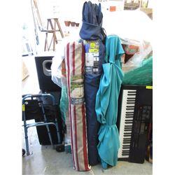 3 Assorted Patio Umbrellas - Store Returns