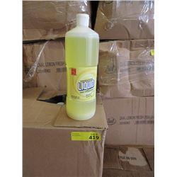 Case of 12 One Quart Bottles of Dishwashing Liquid
