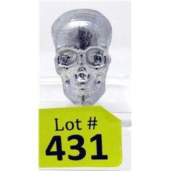 """2 1/2 Ounce Tin """"Skull"""" Bullion Bar - US Mint"""