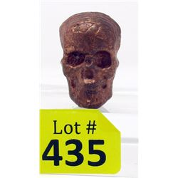 """2 1/2. Ounce .999 Copper Bullion """"Skull"""" Bar"""
