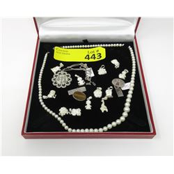 Sterling Charms, Vintage Pearl Necklace & more