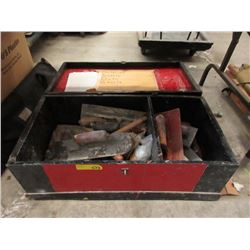 Vintage Wood Tool Box & Contents