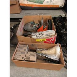 2 Box Lot of Sanding Disks & Galvanized Staples