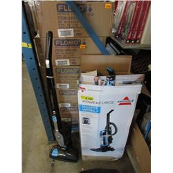 1 Cordless & 1 Electric Upright Vacuums