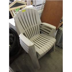 4 Resin Lawn Chairs