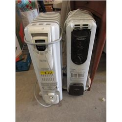 2 Electric Radiator Style Heaters
