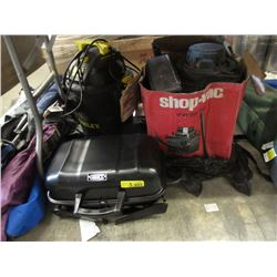 2 Shop Vacuums & Small Barbecue Grill