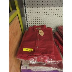 6 New Red Denim Shirt - Assorted Sizes