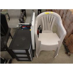 10 Piece Lot of Assorted Chairs & More