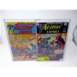 """Two Vintage """"Action Comics"""" 15¢  DC Comics"""