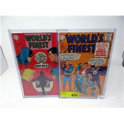 "Two 1960's ""World's Finest"" 12¢ DC Comics"
