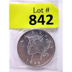"1993 One Oz. .999 Fine Silver ""Liberty"" Round"