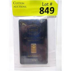 1/2 Gram .9999 Fine Gold Istanbul Gold Refinery Bar