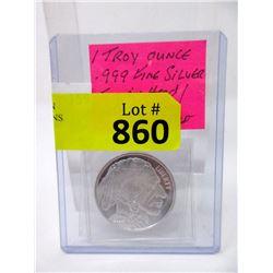 "1 Troy Oz. .999 Fine Silver ""Indian Head"" Round"