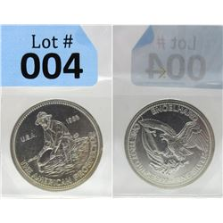 1 Oz. Dated Engelhard .999 Silver Round