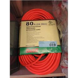 New 80ft Grounded Indoor/Outdoor Extension Cord