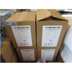 4 New In-Line Duct Fans