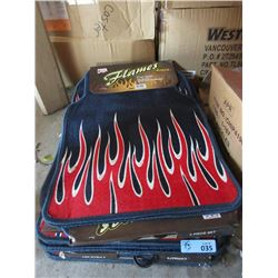 5 New 4 Piece Flame Design Car Mat Sets
