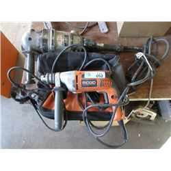 Rigid Drill and Black and Decker Grinder