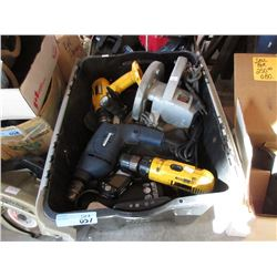 Bin of Electric Power Tools