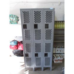 6 Bank Metal Storage Locker