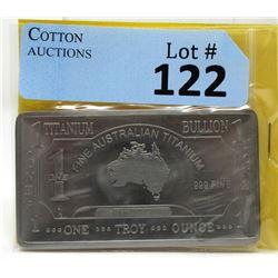 1 Oz. Australia Mint .999 Fine Titanium Investor Bar