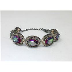 Ladies 40 CT Rainbow Mystic Topaz Tennis Bracelet
