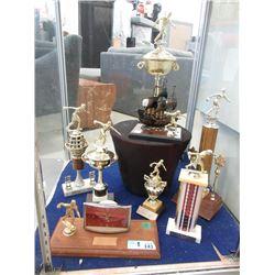 8 Vintage Bowling Trophies - 1960's - 1980