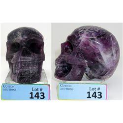 3 Pound Carved 3D Amethyst Skull