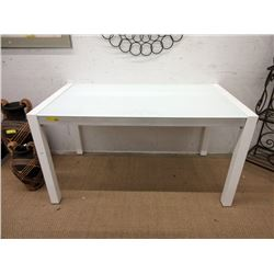 Condo Size White Glass Topped Dining Table