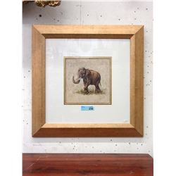 Well Framed African Elephant Print
