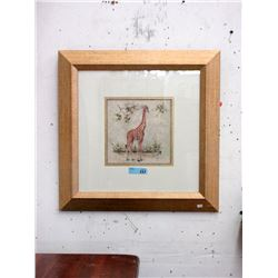 Well Framed African Giraffe Print