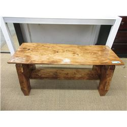Hand Crafted Solid Pine Coffee Table / Bench