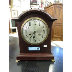 Vintage German 8-Day Key Wind Mantle Clock