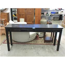 Asian Style Console Table with 4 Drawers