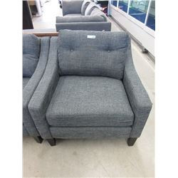 New Stylus Grey Fabric Upholstered Arm Chair
