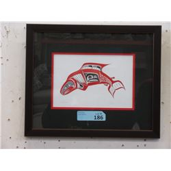 Richard Shorty Framed Print - Salmon