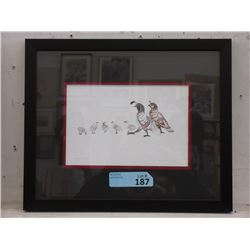 Richard Shorty Framed Print - Quail Family