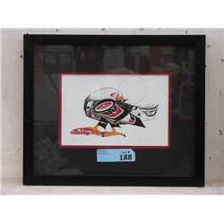 Richard Shorty Framed Print - Eagle and Salmon