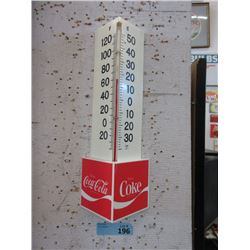 Vintage Triangular Coca-Cola Thermometer